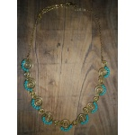 Collier spirale turquoise