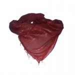 "Foulard ""dollar fil"" bordeau"